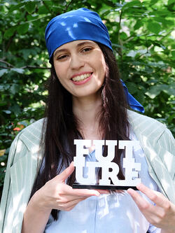 Anna Gryadunova with Future Award