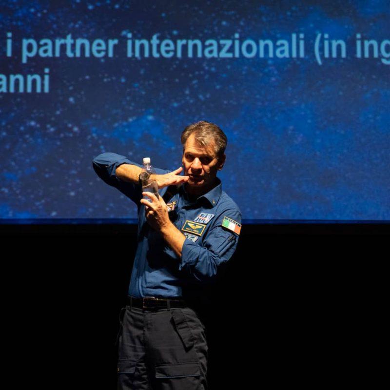 foto evento con Paolo Nespoli